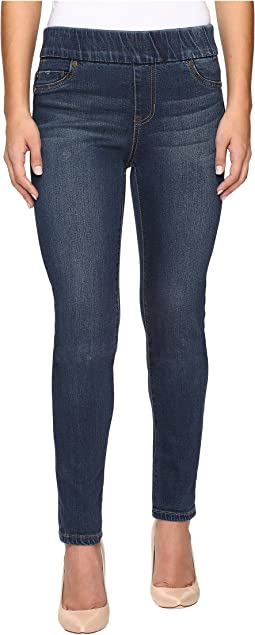 Liverpool Petite Sienna Leggings Pull-On in Petrol Wash