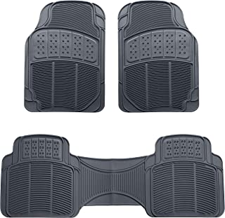 AmazonBasics 3 Piece Rubber Car Floor Mat, Grey