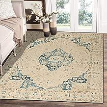 "Rugsville Janiya Vintage Ivory Oriental Persian Carpet 5' x 7'7"""
