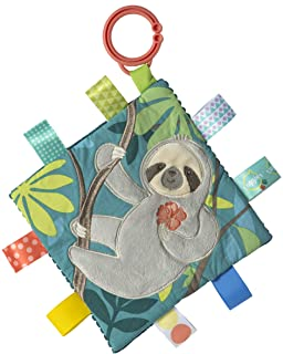 """Taggies Soothing Sensory Crinkle Me Toy with Baby Paper & Squeaker, 6.5 X 6.5"""", Mol Sloth"""