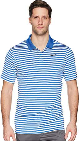 42cc1f62b2 Game Royal White Black. Nike Golf. Dri-FIT™ Mini-Stripe Victory Polo