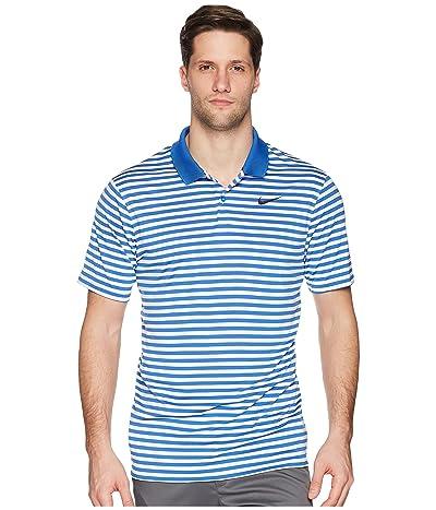 Nike Golf Dri-FITtm Mini-Stripe Victory Polo (Game Royal/White/Black) Men
