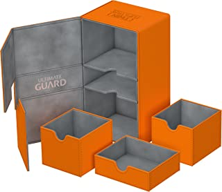 Ultimate Guard UGD010779 Twin Flip N Tray Xenoskin 200 Deck Box, Orange