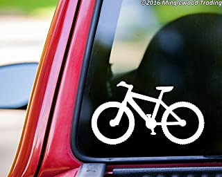 Minglewood Trading Mountain Bike WHITE vinyl decal sticker 5.5
