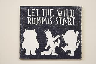 Where The Wild Things Are Boys Nursery Sign Let The Wild Rumpus Start Nursery Wall Decor