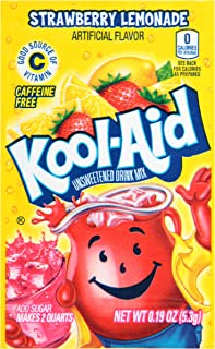 Kool Aid Strawberry Lemonade Twist Drink Mix, Makes 2 Quarts (0.19 oz Packets, Pack of 192)
