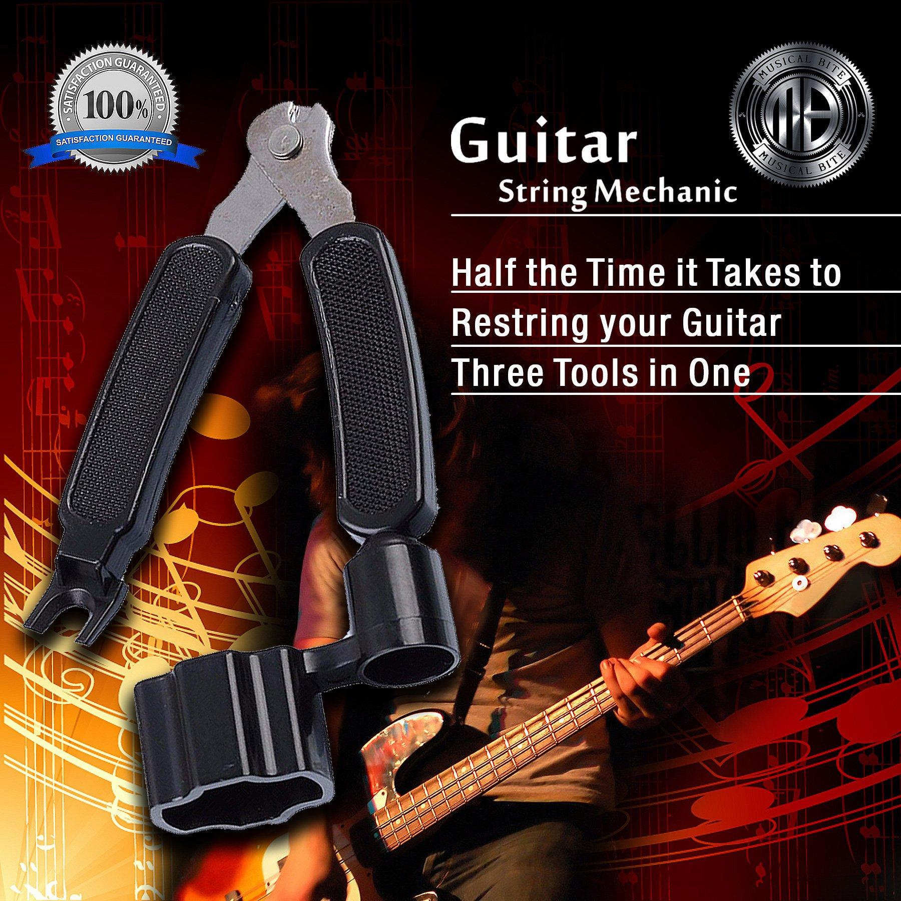 Kit multifuncional de mantenimiento Guitar String Mechanic, 3 en 1 ...