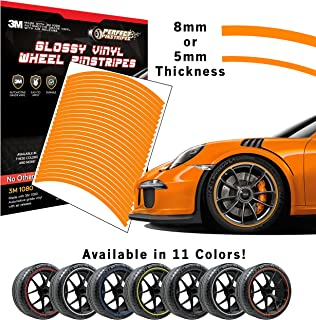 Perfect Pinstripe Gloss Wheel Kit   Pre-Cut 3M 1080 Vinyl Pinstriping   Curved Tape for A (18