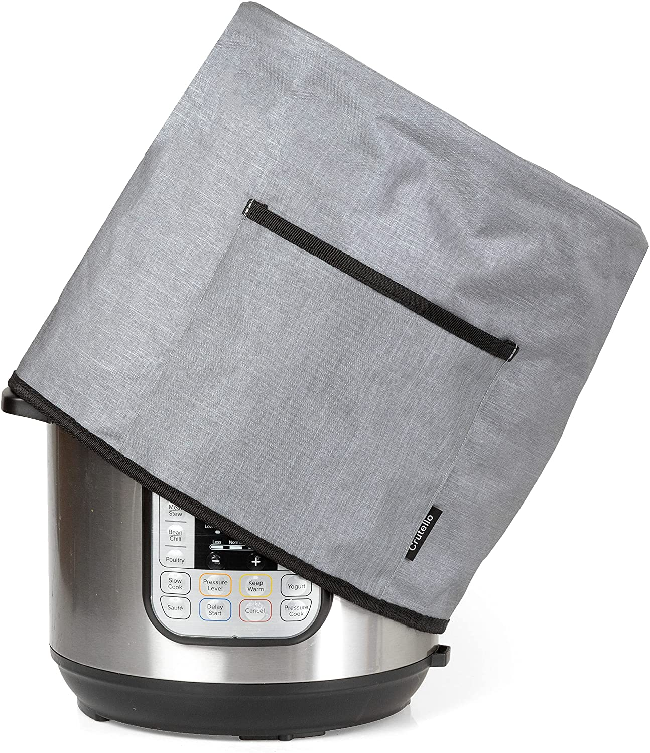 Crutello Instant Pot Cover with Storage Pocket for 6 Quart Pressure Cooker - Small Appliance Dust Covers