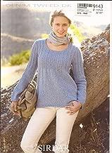 Sirdar Denim Tweed DK Knitting Pattern 9143 Scoop-Neck Empire Tunic for Women