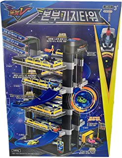 Tobot V Tmtoy Toy Headquaters Car Vehicle Parking Lot Garage Tower with Mini Cars Playset (Batteries Not Included)