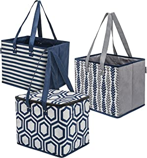 Planet E Reusable Grocery Shopping Bags – 2 Large Collapsible Boxes & 1 Large..