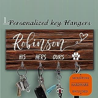 Personalized Key Holder and Dog Leash Wall Hanger Key Organizer for the Hallway Key Ring Holder Custom Key Holder For Wall, Personalized Key Hanger Housewarming Gift Leash Holder