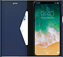 araree [Bonnet Stand] iPhone X (2017) Case, Premium Synthetic Saffiano Leather Diary Case for iPhone X (2017) - Retail Package - Ash Blue