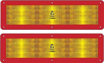 MAGMA 2 Reflecterende Waarschuwingsborden voor Lange Voertuigen 12m ECE70 - Rood Geel Bord Vrachtwagen Caravan Aanhangwage...