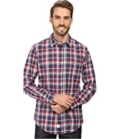 U.S. POLO ASSN. - Long Sleeve Classic Fit No Wrinkle Plaid Poplin Straight Point Collar Sport Shirt