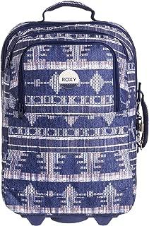 Womens Wheelie Rolling Suitcase Luggage Akiya Combo Blue Print