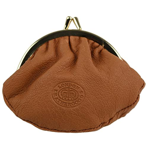 0dc68fe5da Small LEATHER Ladies Clasp COIN PURSE by London Leather Goods Colours Handy  (Tan)