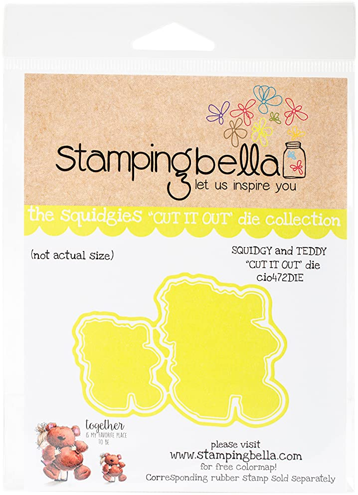 Stamping Bella CIO472DIE Cut It Out Dies-Squidgy & Teddy
