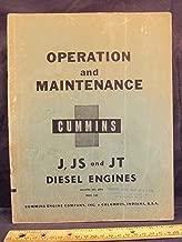 Cummins Diesel Engine J JS JT Operation Maintenance Manual