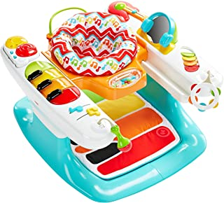 Fisher-Price 4-in-1Step 'n Play Piano, Amarillo/verde