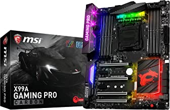 MSI Computer Gaming Intel X99 LGA 2011-v3 DDR4 USB 3.1 Type-C ATX Motherboard (X99A Gaming PRO Carbon)