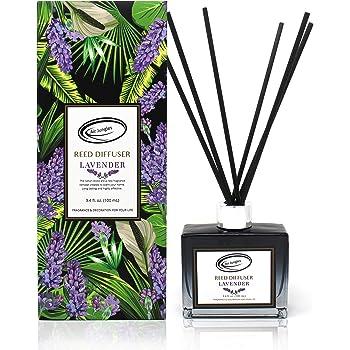 Lavender Scent Reed Diffuser Set with Sticks, Essential Incense Oil Air Freshener for Bathroom, Office, Gym, and Bedroom Fragrance, 3.4 fl. oz