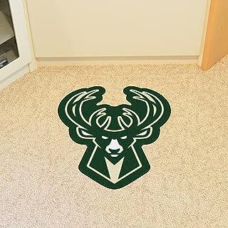 FANMATS 21346 Team Color 3' x 4' NBA - Milwaukee Bucks Mascot Mat