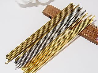 20本セット 15cm 一本挿し かんざし金具 簪パーツ 通し穴付き マジェステ ヘアスティック 簪棒 和装 ハンドメイド (3色MIX)