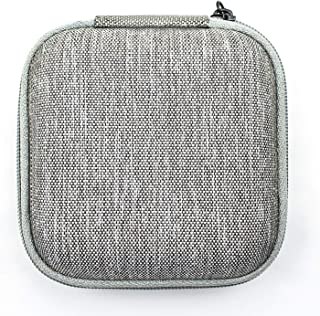 EVA Portable Hard Case, Revonext Compact EVA Shell Protective Storage Carry Case Gray Small Bag Pouch for Earphone/Audio C...