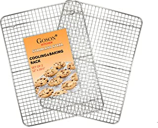 Goson Kitchen Stainless Steel Heavy Duty Metal Wire Cooling, Cooking, Baking Rack For Baking Sheet, Oven Safe up to 575F, ...