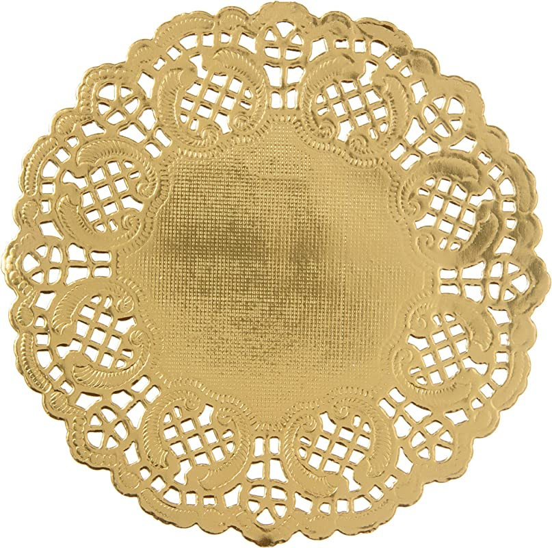 Darice Gold Paper Doilies 50 Piece