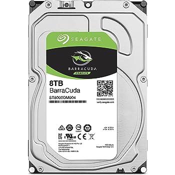 """Seagate BarraCuda 3.5"""" 8TB 内蔵ハードディスク HDD 2年保証 6Gb/s 256MB 5400rpm 正規代理店品 ST8000DM004"""