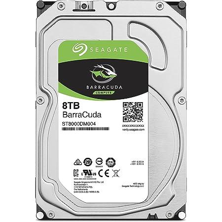 "【Amazon.co.jp限定】Seagate BarraCuda 3.5"" 8TB 内蔵ハードディスク HDD 2年保証 6Gb/s 256MB 5400rpm 正規代理店品 ST8000DM004"