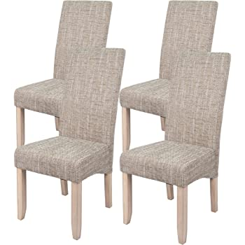 Abitti Pack 4 sillas para Comedor o Salon tapizadas en Color Arena ...