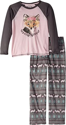 P.J. Salvage Kids - Pretty Foxy Pajama Set (Big Kids)