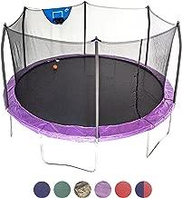 Skywalker Trampolines 15-Foot Jump N' Dunk Trampoline with Enclosure Net - Basketball Trampoline