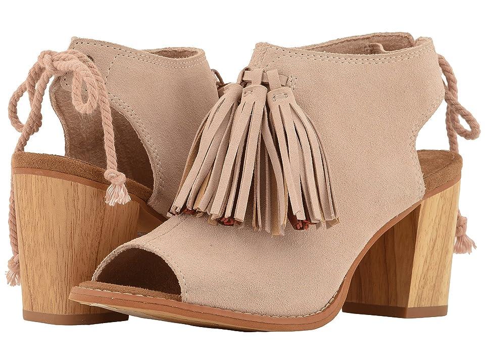 TOMS Elba (Blush Suede/Tassel) High Heels