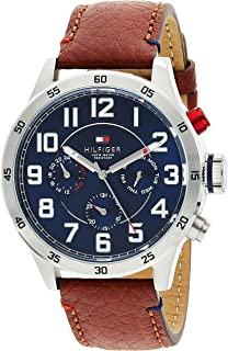 Tommy Hilfiger Men's Blue Dial Leather Band Watch - 1791066