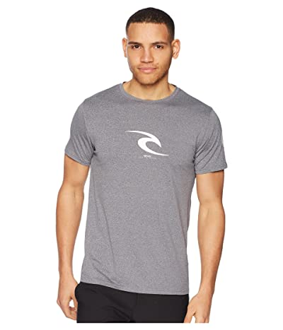 Rip Curl Icon Short Sleeve UV Tee (Dark Grey Heather) Men
