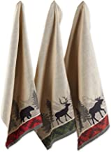 """DII Cotton Jacquard Dish Towels, 20x28"""" Set of 3, Decorative Tea Towels for Everyday Kitchen Cooking and Baking-Walk In Th..."""