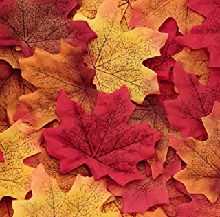 1100PCS Fall Artificial Maple Leaves Thanksgiving Autumn Leaf Wedding Party Table Decor,..