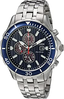 Citizen Men's Eco-Drive Japanese-Quartz Watch with Stainless-Steel Strap, Silver (Model: CA0560-59L)