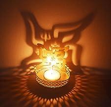 SWASTIK Shape Diwali Shadow Diya. Deepawali Traditional Decorative Diya for Home/Office.Religious Tea Light.Indian Gift It...