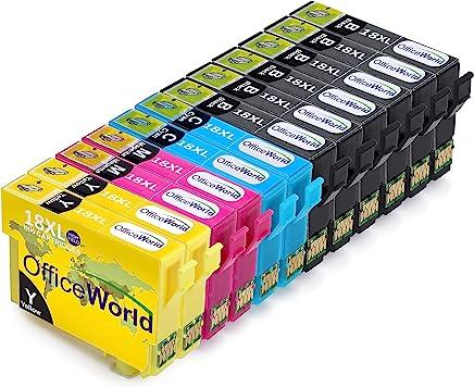 OfficeWorld Sostituzione per Epson 18 18XL Cartucce d'inchiostro Compatibile per Epson Expression Home XP-202 XP-305 XP-415 XP-412 XP-215 XP-312 XP-212 XP-102 XP-405 XP-205 XP-302 XP-402 XP-315