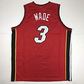fc374bcf78f Unsigned Dwyane Wade Miami Red Custom Stitched Basketball Jersey Size Men's  XL New No Brands/