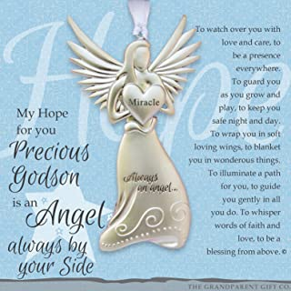 Beautiful Angel - Gift for Godson On Baptism Confirmation Christening with Heartwarming Sentiment (Godson)