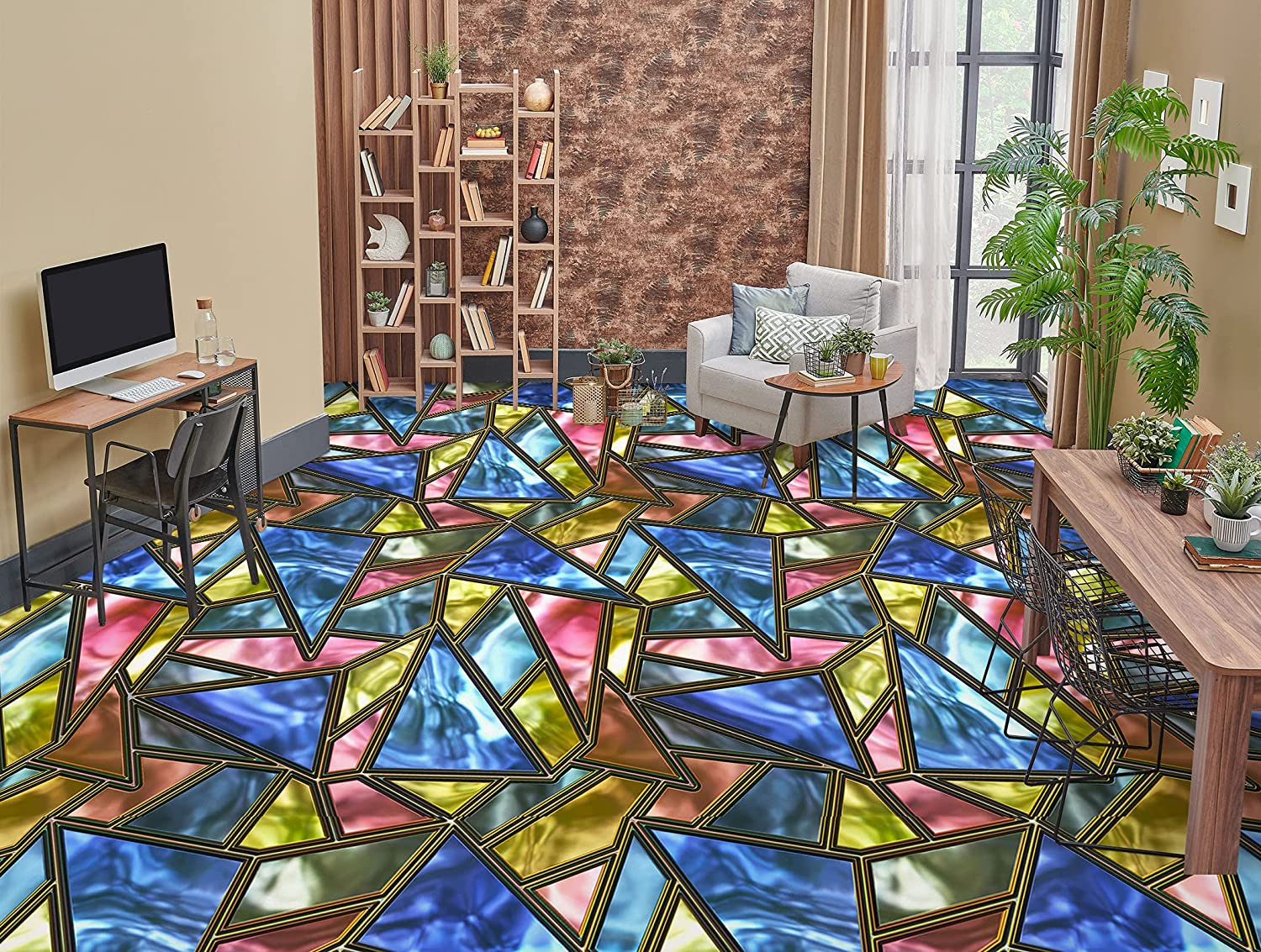 3D Color Pattern 6477 Floor Wallpaper Wall Recommendation Print Decal Shipping included Murals AJ