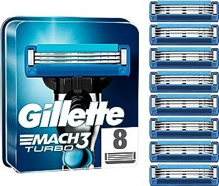 Gillette Mach3 Turbo-reservemes voor herenscheermes, ontworpen met precisiesnijstaal, voor een lange levensduur van 15 sch...