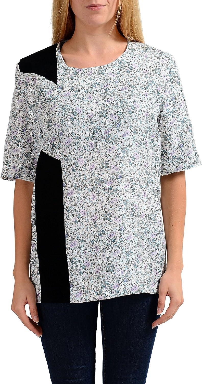 Maison Martin Margiela  1  Women's 100% Silk Short Sleeve Blouse Top US M IT 42